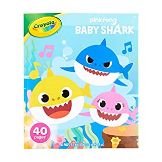 Crayola Baby Shark Coloring Book, Gift for Kids, Ages 3, 4, 5, 6