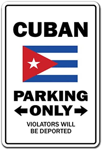 signjoker] cubana Parking Sign Gag regalo divertido la Habana ...