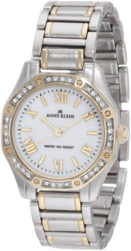 Anne Klein Women's 10/9769MPTT Swarovski Crystal Accented Two-Tone Bracelet Watch