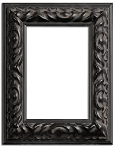 Gallery Solutions Empty Accent Picture Frame, Ornate, 5-Inch by 7-Inch, Black