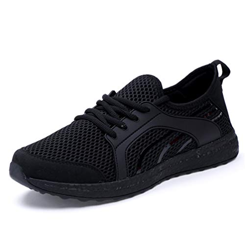 Zapatos Zapatos Verano otoño Encaje Unisex Casuales Negro XqzFf