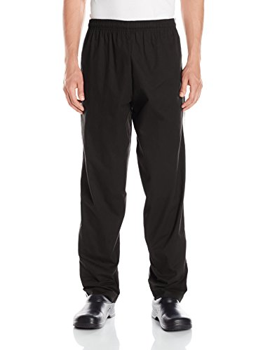 Chef Code Men's Traditional Baggy Chef Pant with Athletic Double Piping, Black, 2X-Large by Chef Code