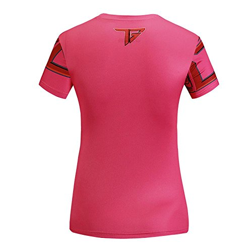 impresión de la camiseta de la marca marea 3D transpirable manera del ms de verano de manga corta camiseta Slim Red
