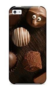 For Iphone 5c Premium Tpu Case Cover Chocolate Protective Case