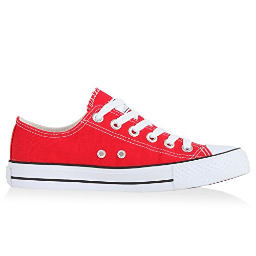 Japado Women's Low-Top Sneakers Rot Bianco LnGBGzNJ