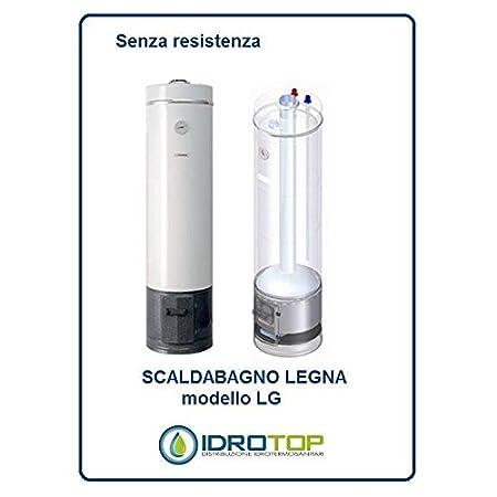 Calentador LG 80L A Leña ad Accumulo de acero vetroporcellanata styleboiler: Amazon.es: Hogar