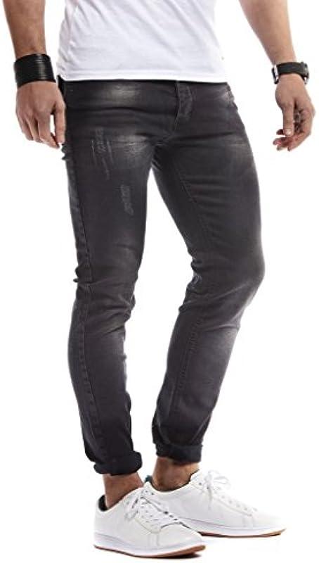 LEIF NELSON Męskie spodnie dżinsy Basic Stretch spodnie rekreacyjne Denim LN271N-SC: Odzież
