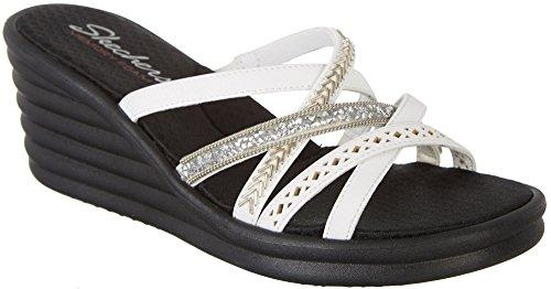 Skechers Cali Frauen Rumbler Wave-New Lassie Slide Sandale Weiß