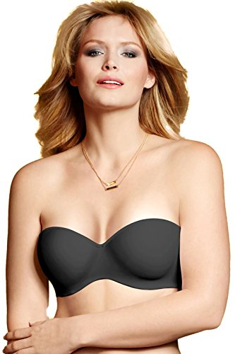 picture of Lilyette Strapless Bra With Convertible Straps 0929, 40C, Black Tailored