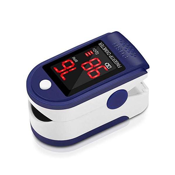 Pulsómetro Digital Oxímetro de Pulso Pulsioxímetro de Dedo con Pantalla LED, Monitor de Frecuencia Cardíaca y Medidor de… 2
