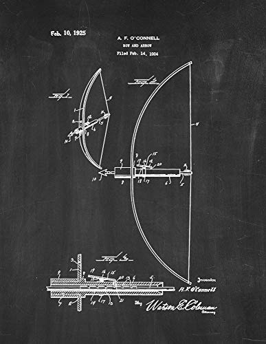 454 Bow - Bow and Arrow Patent Print Chalkboard (5