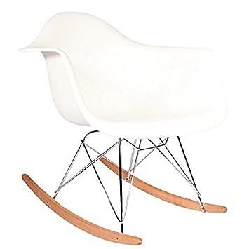 Multiko Modern Schaukelstuhl Metall Beine Mit Holz Kufen Kunststoff
