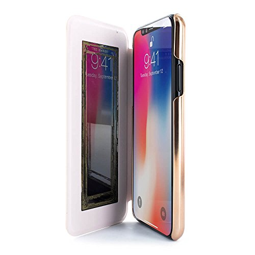 Official TED BAKER® NALIBISE Fashion Branded Mirror Folio Case for iPhone X, High Quality Premium Protective Wallet for Professional Women