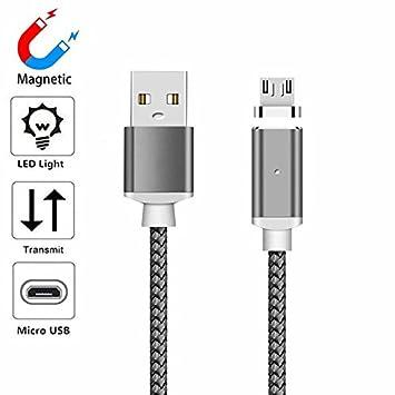 YANSHG (1M/2M/3M) Magnética USB Micro Cable LED Trenzado ...