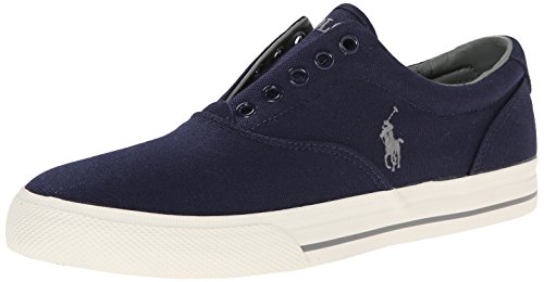 Polo Ralph Lauren Men's Vito Canvas Fashion Sneaker, Newport Navy, 9 D US