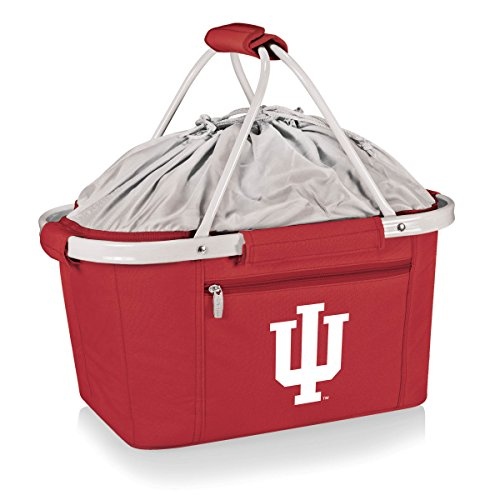 PICNIC TIME 645-00-100-674-0 Indiana University Hoosiers Tailgating Tote Bag Picnic Basket by PICNIC TIME