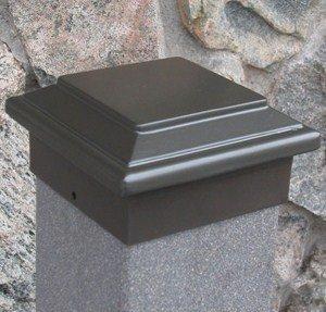Titan Post Cap (to match Aurora Deck Light), 3-1/2'' (4x4 wood) Post, Bronze by Aurora Deck Lighting