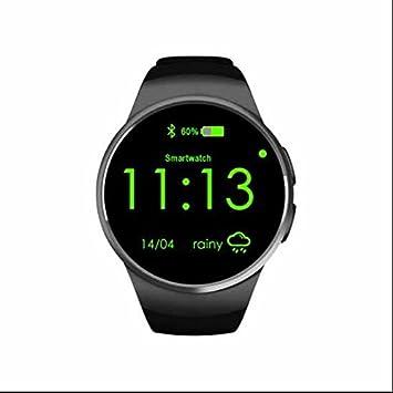 KW18 deporte reloj deportivo corazón tasa IPS pantalla Bluetooth SmartWatch rastreador de fitness App para Apple iOS Android Teléfono: Amazon.es: Deportes y ...