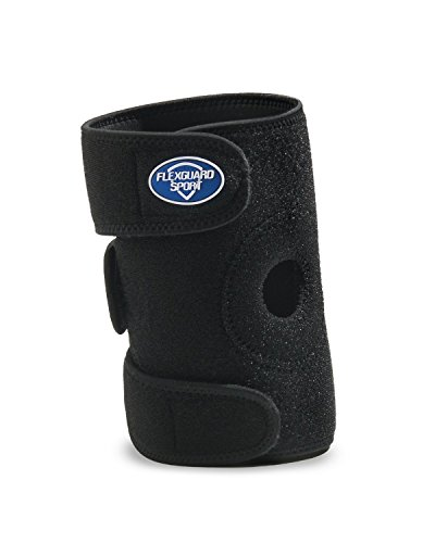 FlexGuard Sport Knee Brace - Breathable and Adjustable Compression - One Size - Black - for Sports, Joint Pain, Arthritis, Aching