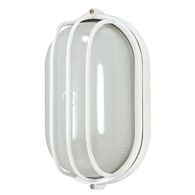 Nuvo Lighting 60/560 Bulkhead 1-Light Oblong Round Energy Star CFL, Semi Gloss White