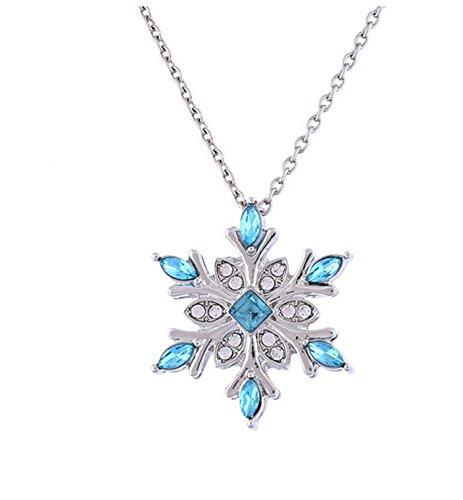 Frozen Snowflake Necklace, Ice Queen Elsa Jewelry, Fairy