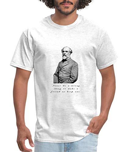 Spreadshirt Robert E. Lee Quote Men's T-Shirt, XL, light heather grey from Spreadshirt