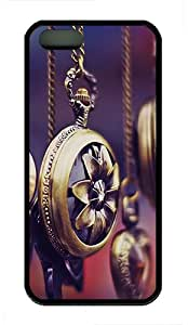 iPhone 5S Case,Pocket Watches TPU Custom iPhone 5/5S Case Cover Black