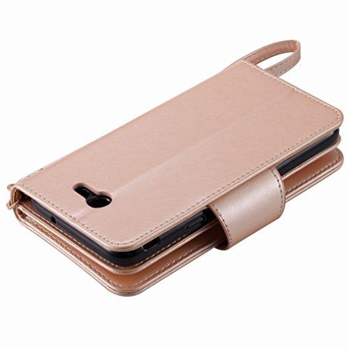 Yiizy Samsung Galaxy J7 (2017) Funda, Chica Repujado Diseño Solapa Flip Billetera Carcasa Tapa Estuches Premium PU Cuero Cover Cáscara Bumper Protector Slim Piel Shell Case Stand Ranura para Tarjetas