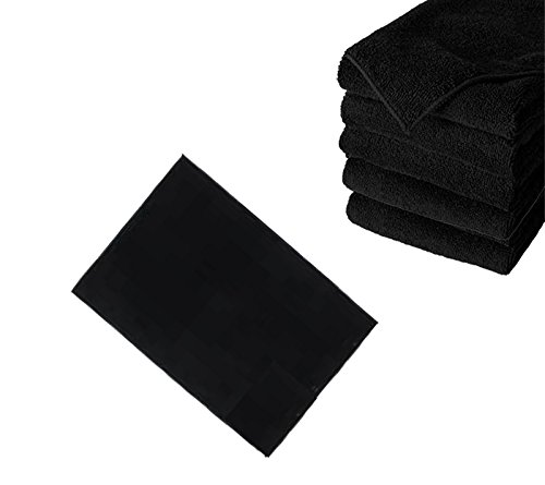 LCL Beauty Black Adjustable ABS Shampoo Bowl Backwash Station with Triple Certified Vacuum Breaker 6 Microfiber Towels by LCL Beauty (Image #2)