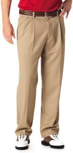 Haggar Men's Cool 18 Hidden Expandable-Waist Pleat-Front Pant