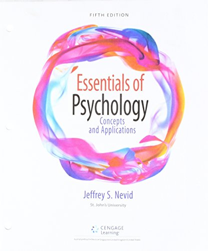 Bundle: Essentials of Psychology: Concepts and Applications, Loose-Leaf Version, 5th + MindTap Psychology, 1 term (6 months) Printed Access Card