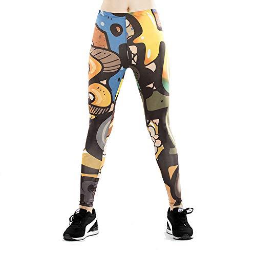 GYXYYF Fitness Leggings Digitaldruck Damen Yoga Fitness Leggings