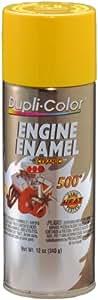 Dupli-Color DE1642 Ceramic Daytona Yellow Engine Paint - 12 oz.