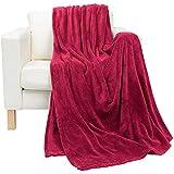 Luxury Maroon King Size, 210 X 230 Cm Coral Plush Blanket