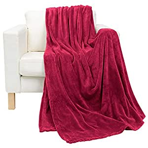 Luxury Maroon King Size, 210 X 230 Cm Coral Plush Blanket