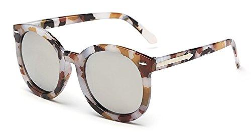 Coolzdt Exquisite Color Film Arrow Wayfarer Sunglasses For Women Mirror Female UV400 Lens (White mercury - Amour Under Sunglasses