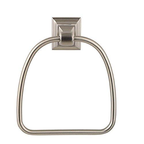 Baldwin 3594.150 Stonegate Towel Ring, Satin Nickel, 1-Pack (Hardware Baldwin Ring Towel)