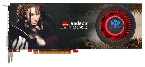 Sapphire Radeon HD 6950 2 GB DDR5 DL-DVI-I/SL-DVI-D/HDMI/Dual Mini DP PCI-Express Graphics Card 100312SR (Graphics Card 6950)