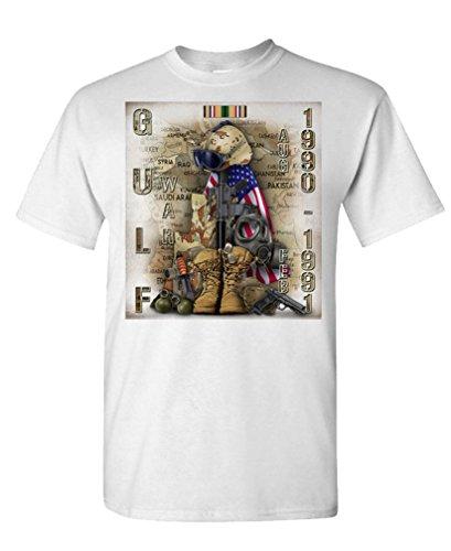 GULF WAR TRIBUTE - operation desert storm - Mens Cotton T-Shirt, 2XL, White
