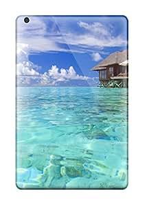 Protective Tpu Case With Fashion Design For Ipad Mini/mini 2 (maldives Holiday Beach)