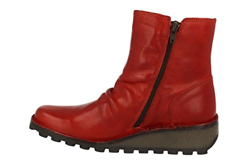 FLY London Mong944fly, Botas para Mujer Rojo (Red)
