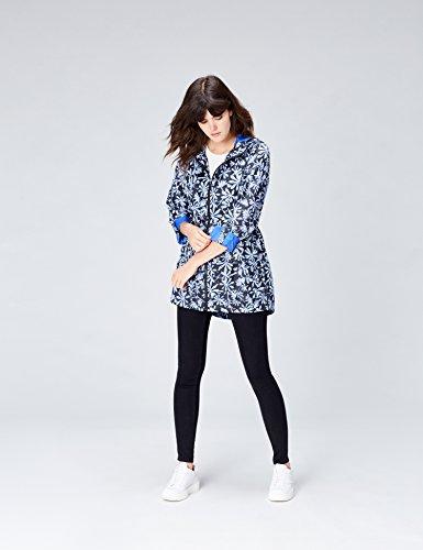 Pluie Bleue Veste De Long Pour À Imprimé Femme 6ZxSRnq1