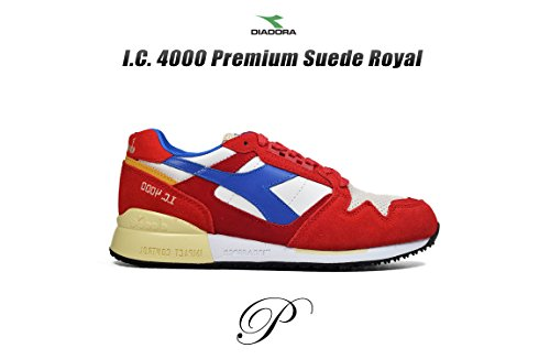 Diadora 170945 C6642 - Zapatillas para hombre Pompeian Red/Nautical Blue