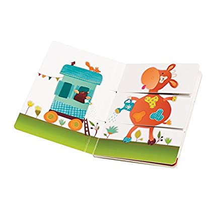 Amazon.com: Lilliputiens Arlequino granja Multi-way libro de ...