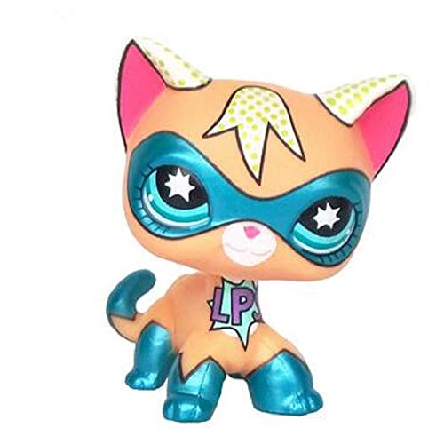 PampasSK Action & Toy Figures - Standing Short Hair cat Super Hero Masked Kitty Animal Rare Old pet Shop Toys Original Kitten 5cm 1 PCs