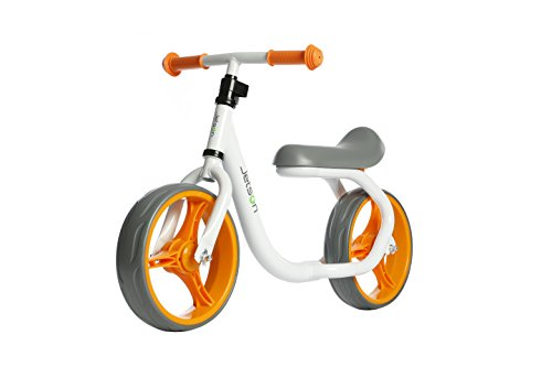 Jetson Orange / White Gravity Balance Bike Kid Ride-On Push - Bonus Free Stickers to Customize Look - Child Training Bike Ages 2 to 5 Years - Simple, Fun, No Pedal, Easy Assembly
