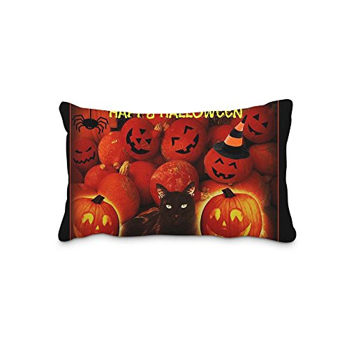 Festival Halloween 16x24inch Pillow Cushion Cover with Zipper Standaed Queen Size Pillowcase(Twin Sides)