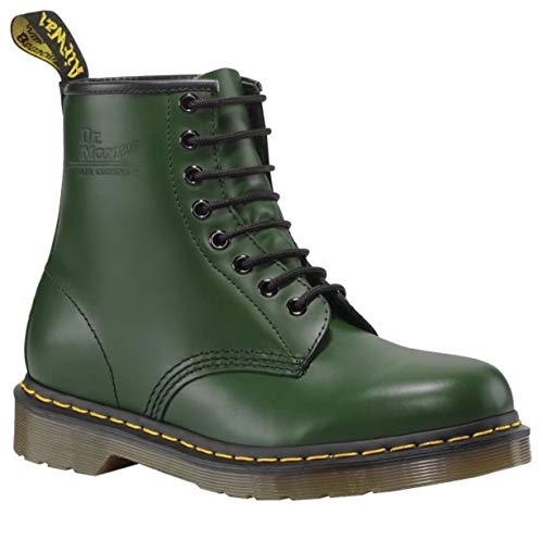 Dr. Martens 1460 Originals 8 Eye Lace Up Boot, Green Smooth Leather, 11UK / 12 US Mens, 46 EU -