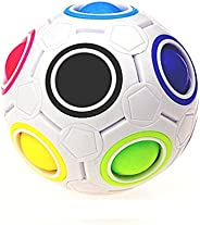 Putars Cute Luminous Stress Reliever Rainbow Magic Ball Plastic Cube Twist Puzzle Toys