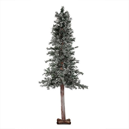 Allstate Unlit Frosted and Glittered Woodland Alpine Artificial Christmas Tree, 7' x 40
